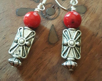 Red bamboo coral dangles