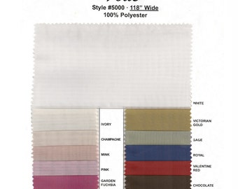 "Sheer Voile Fabric. Many Colors. 118"" Wide. Price is Per Yard."