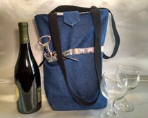 Insulated Wine and Glasses Tote
