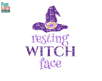 Resting Witch Face SVG, Witch SVG, Holiday SVG, Halloween svg, Winter svg, Witch Clip art, cuttables, svg, Cricut, Silhouette, Cutting Files