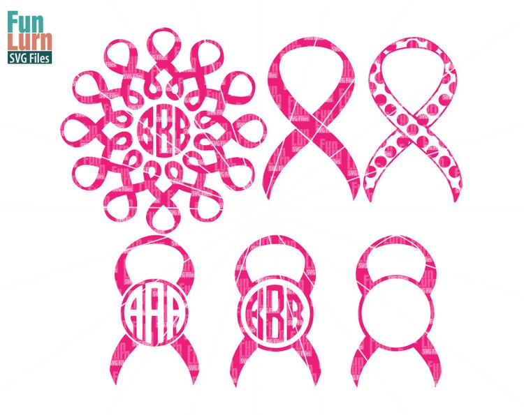 Awareness Ribbon Monogram Frames Monogram Frames Svg By