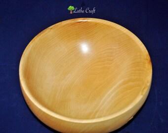 Natural Edge Bowl in Macrocarpa Wood - Handmade in UK