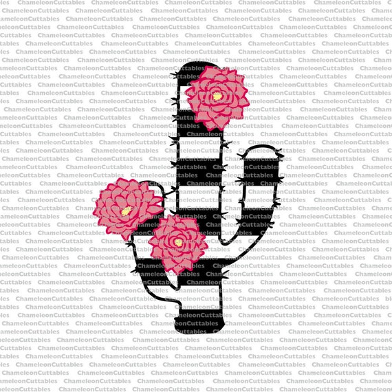 Cactus, Svg, Stipes, Black, White, Flowers, Floral, Flower