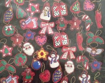 48 felt applique ornaments kit J & P coats sealed