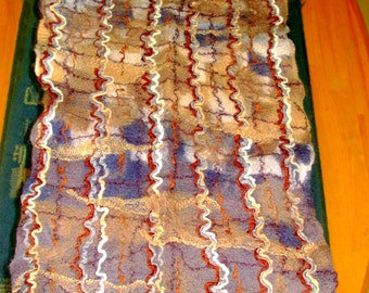 SALE!Felted wool scarf for men