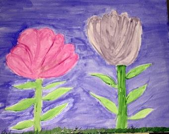 2 Flowers in a Field