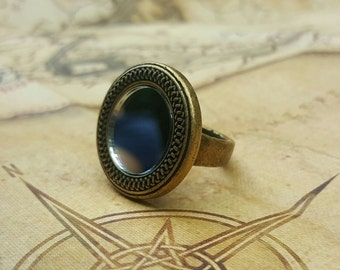 Antique Style Mirror Ring