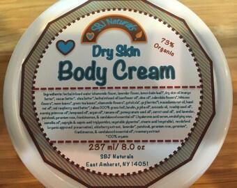 Dry Skin Oil Cream - 73% Certified Organic Ingredients