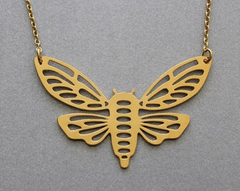 moth pendant necklace