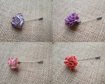 Carnation pin - pin bride - wedding pin - pack -Broche pins - Accessories - Accessories