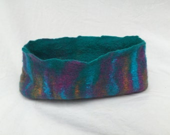 Hand felted wool bowl