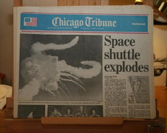 Chicago Tribune Newspaper - Space Shuttle Explodes - January 29, 1986