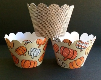 Fall Inspired Cupcake wrappers