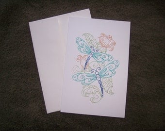embroidered  greeting card