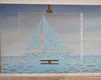 ship shy water decoration hand-made oil painting