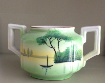Vintage  Sugar Bowl Hand Painted Japan