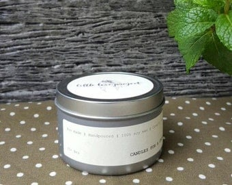 Traveller - hand poured soy travel tin candle