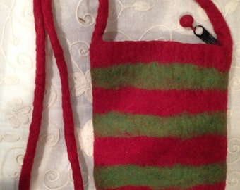 Felted Wool Striped Purse