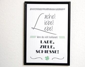 Laugh Love Live Gift Family Art Print Fine Art Print