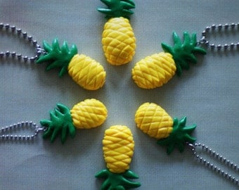 Polymer Clay Pinapple Necklace