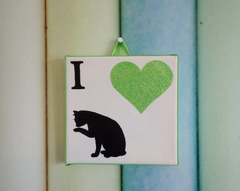 I Love Cats canvas