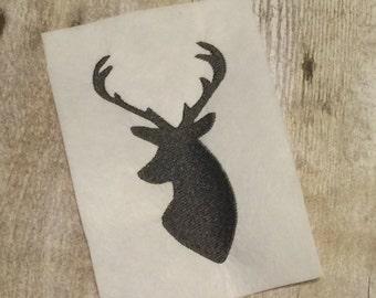 Deer Head Embroidery Design, Deer Applique