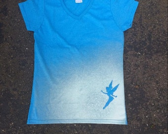 Bleached Silhouette Shirt-Light Blue