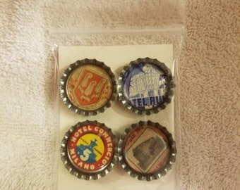 Vintage Inspired Bottle Cap Magnets