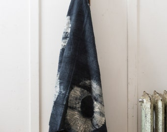 African Mudcloth - Navy Tie-Dye