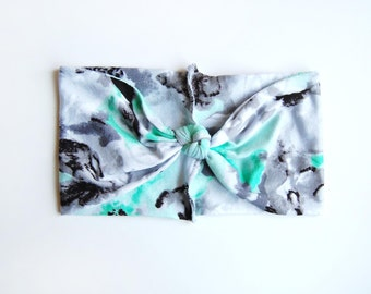 Watercolor Turban Headband