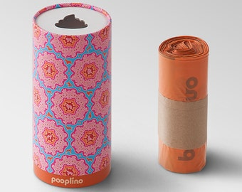 "NOVELTY!  pooplino gift box ""Lilly"" - waste bag dispenser + 50 eco-friendly dog waste bags / sanitary bags / waste bags / bags of feces"