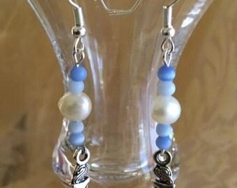 Pearl and Cat's Eye Mermaid Earrings