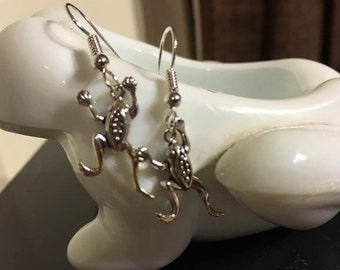Leaping Frog Sterling Silver Earrings