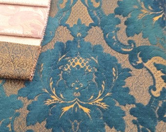 SALE!!!FedEx!!!by the Meters,Yards,Damask,Chenille,Jacquard,Turkish,Ottoman Style,Exclusive Chenille Upholstery Fabric, Fabric