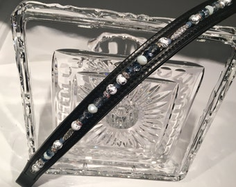 Ice Themed Beaded Browband