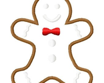 gingerbread man embroidery design, gingerbread man applique design, christmas embroidery design, christmas applique design