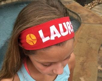 Personlaized Sport Cotton Stretch Headband - Baseball, Softball, Volleyball, Basketball