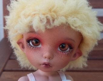 BJD pukifee color light mango wig 5-6