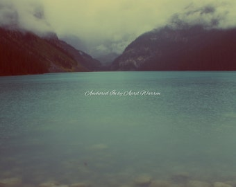Lake Louise, foggy day, The view