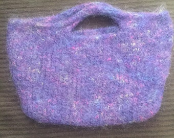 Purple felted clutch
