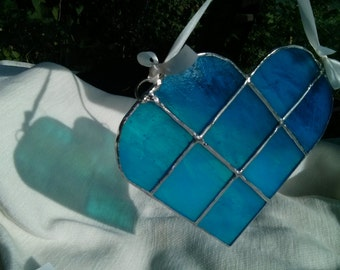 Light Blue Stained Glass Heart