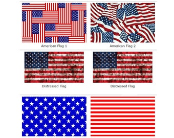 "12""x18""  Red, White, and Blue Pattern HTV Sheets"
