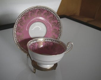 "Vintage English Bone China cup and saucer with stand made by ""Shelly+"