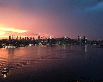 Multicolor sunset over NYC