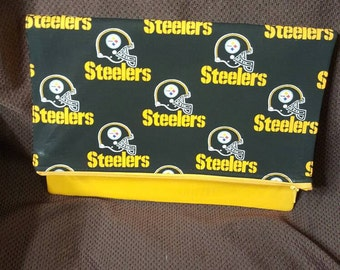 Handmade Pittsburgh Steelers Black and Yellow Klutch