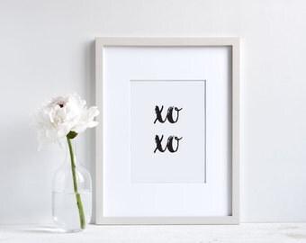 Wall art, xoxo, wall prints, kiss, hug, home decor