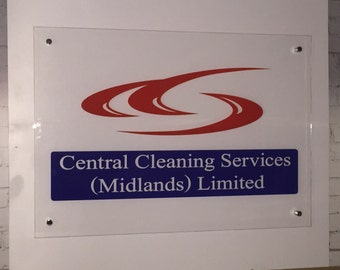 Office signage - acrylic office sign - 'stand off' sign for office - office logo sign - floating office sign - customised office signage