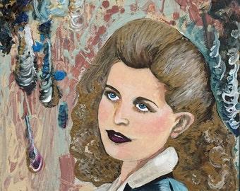 Custom portrait painting, custom acrylic painting from photo, custom family acrylic portrait, acrylic on canvas