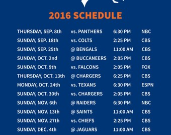Broncos magnetic schedule
