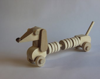 "Wooden toy abacus ""Dachshund"" ,children toy, eco friendly toy"